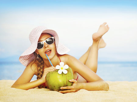 Красивый загар с кокосовым маслом
