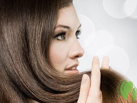блестящие волосы после применения сандалового масла