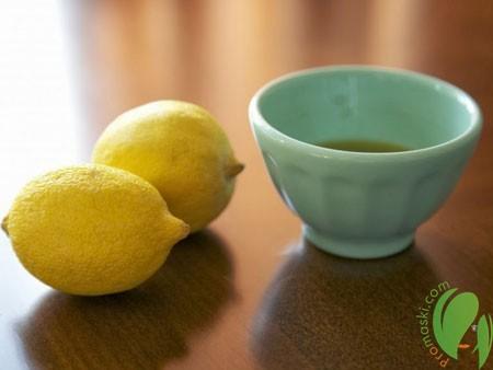 маска с лимоном