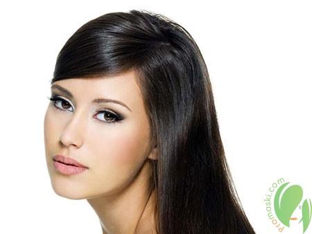 масло авокадо делает волосы блестящими