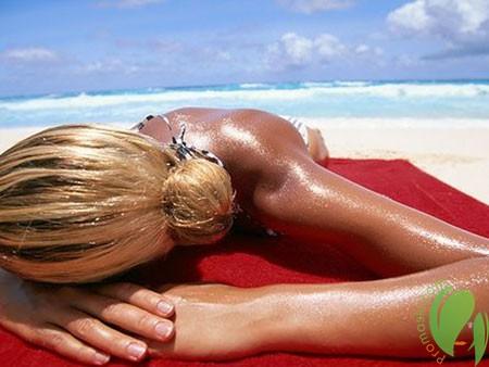 натуральное масло защищает кожу от ожогов