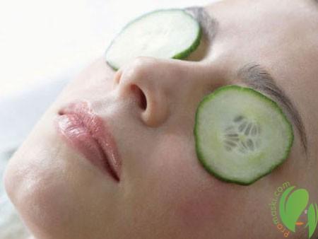 огуречная маска для кожи глаз