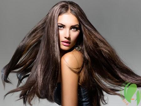 блестящие волосы после масла эвкалипта