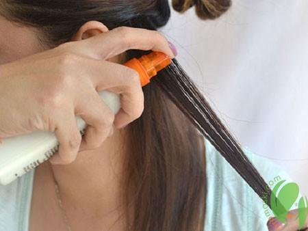 применение термозащитного спрея для волос
