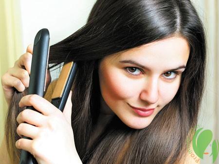 выпрямление волос портит структуру волос