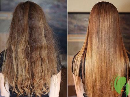 результат ламинирования волос