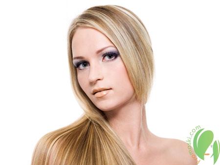 блестящие волосы после маски с желтком