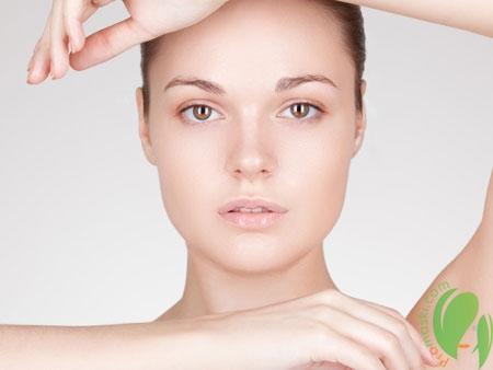 чистая кожа лица после применения масла сосны
