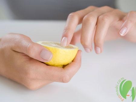 маска для ногтей из лимона