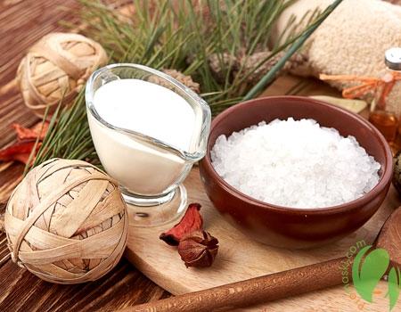 приготовление маски с солью