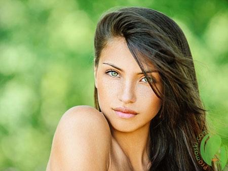 ухоженная кожа девушки